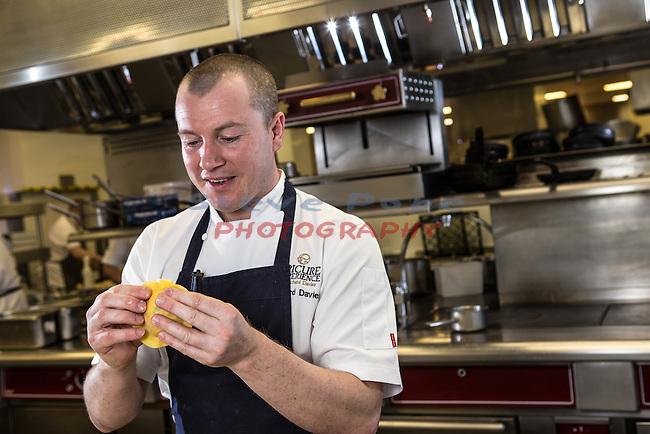 Celtic Manor Resort<br /> Chef Richard Davies<br /> 20.04.16<br /> &copy;Steve Pope - Fotowales