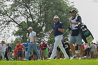 Justin Thomas (USA) and Phil Mickelson (USA) head down 15 during 2nd round of the World Golf Championships - Bridgestone Invitational, at the Firestone Country Club, Akron, Ohio. 8/3/2018.<br /> Picture: Golffile | Ken Murray<br /> <br /> <br /> All photo usage must carry mandatory copyright credit (© Golffile | Ken Murray)