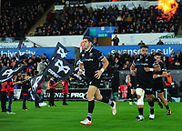 Ospreys' James Hook takes to the field  <br /> <br /> Photographer Ashley Crowden/CameraSport<br /> <br /> Guinness Pro14 Round 6 - Ospreys v Scarlets - Saturday 7th October 2017 - Liberty Stadium - Swansea<br /> <br /> World Copyright &copy; 2017 CameraSport. All rights reserved. 43 Linden Ave. Countesthorpe. Leicester. England. LE8 5PG - Tel: +44 (0) 116 277 4147 - admin@camerasport.com - www.camerasport.com