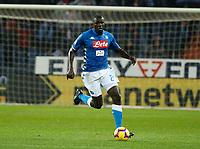 Kalidou Koulibaly of Napoli   during  Genoa -   Napoli Stadio Luigi Ferraris, Genoa, Italy; Serie A football 10th November 2018