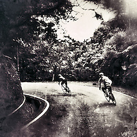 Descending the smooth roads in Yangmingshan National Park, near Taipei, Taiwan.