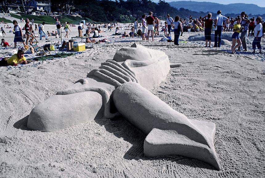 SAND CASTLE at the annual contest held in CARMEL BEACH each year - CALIFORNIA