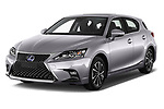 2018 Lexus CT Executive Line 5 Door Hatchback angular front stock photos of front three quarter view