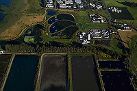 aerial photograph Ellis Creek Water Recycling Facility, Petaluma, Sonoma county, California