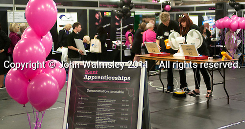 List of the days' demonstrations promoting apprenticeships, Kent2020Vision show, County Showground, Kent.
