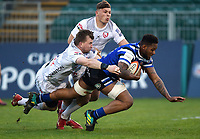 Levi Douglas of Bath United scores a try in the first half. Premiership Rugby Shield match, between Bath United and Gloucester United on April 8, 2019 at the Recreation Ground in Bath, England. Photo by: Patrick Khachfe / Onside Images