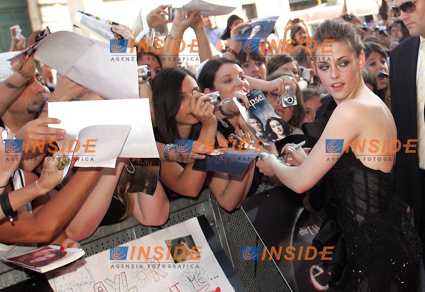KRISTEN STEWART<br /> Roma 17/06/2010 Anteprima del film 'The Twilight saga: Eclipse'.<br /> Premiere of the film 'The Twilight saga: Eclipse'. Auditorium della Conciliazione, Rome, July, 17, 2010.<br /> Photo Samantha Zucchi Insidefoto