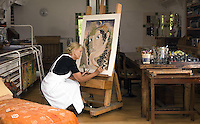 Kerry artist Pauline Bewick pictured in her studio near Glenbeigh, County Kerry. Photo: Don MacMonagle