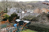 Pictured: The roof of the house in Aberaeron, where the remains of a woman have been discovered in Ceredigion County, Wales, UK. Wednesday 21 March 2018<br /> Re: Human remains have been found in a house following a police investigation to find a missing woman.<br /> Police were called to the property in Aberaeron, west Wales after a woman in her 50s collapsed.<br /> Police also discovered the woman's mother, in her 80s, who had not been seen for some time.<br /> The women were named locally as Gaynor and Valerie Jones, with police currently treating the death as unexplained.<br /> The two women have ben described as &quot;reclusive&quot; by neighbours and the home they shared as being &quot;heavily cluttered&quot;.