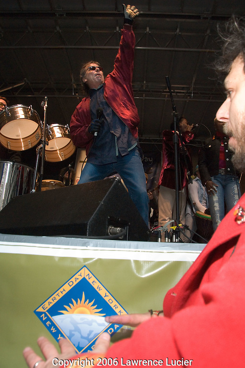 Former Grateful Dead drummer Mickey Hart performs at the Green Apple Music and Arts Festival April 21, 2006, at Grand Central Station in New York City. . (Pictured: Mickey Hart)