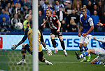 Mark Duffy of Sheffield Utd scores the third goal during the Championship match at the Hillsborough Stadium, Sheffield. Picture date 24th September 2017. Picture credit should read: Simon Bellis/Sportimage