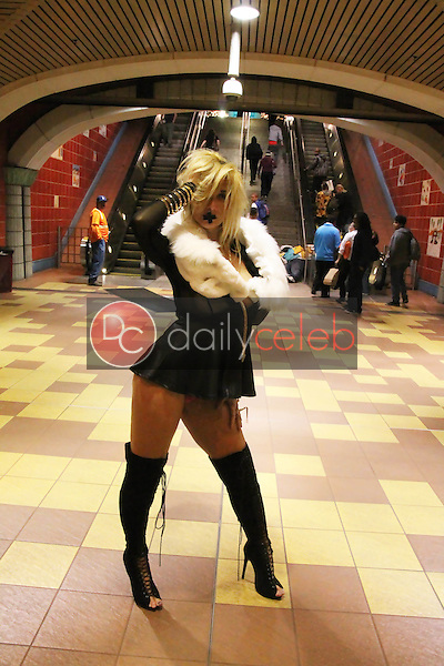 Nadeea Volianova<br /> shocks bystanders as she shoots a music video for her upcoming song &quot;Shut My Mouth&quot; in a subway station in Hollywood, CA 06-28-15<br /> David Edwards/Dailyceleb.com 818-249-4998
