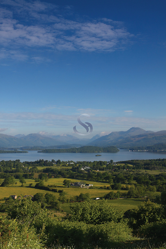 Loch Lomond, the Luss Hills and Ben Lomond from Duncryne Hill, Gartocharn, West Dunbartonshire<br /> <br /> Copyright www.scottishhorizons.co.uk/Keith Fergus 2011 All Rights Reserved