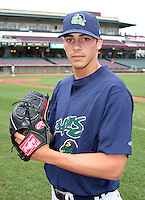 August 30, 2003:  Khalid Ballouli of the Beloit Snappers during a game at Fifth Third Field in Dayton, Ohio.  Photo by:  Mike Janes/Four Seam Images