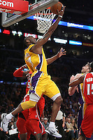 02/22/11 Los Angeles, CA:  Los Angeles Lakers shooting guard Kobe Bryant #24 during an NBA game between the Los Angeles Lakers and the Atlanta Hawks at the Staples Center. The Lakers defeated the Hawks 104-80.