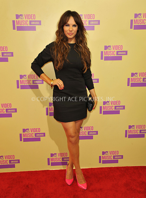 WWW.ACEPIXS.COM....September 6, 2012, Los Angeles, CA.......Charity Shea arriving at the 2012 MTV Video Awards at the Staples Center on September 6, 2012 in Los Angeles, California. ..........By Line: Peter West/ACE Pictures....ACE Pictures, Inc..Tel: 646 769 0430..Email: info@acepixs.com