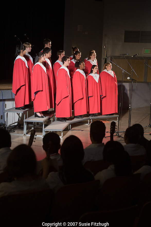 Chief Sealth HS choir in performance.