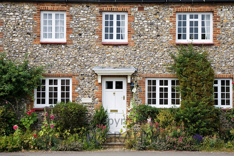 Traditional brick and flint Norfolk home near Burnham Market, Holkham, United Kingdom