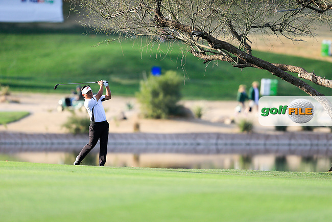 K.J. Choi (USA) on the 15th fairway during the 2nd round of the Waste Management Phoenix Open, TPC Scottsdale, Scottsdale, Arisona, USA. 01/02/2019.<br /> Picture Fran Caffrey / Golffile.ie<br /> <br /> All photo usage must carry mandatory copyright credit (© Golffile | Fran Caffrey)