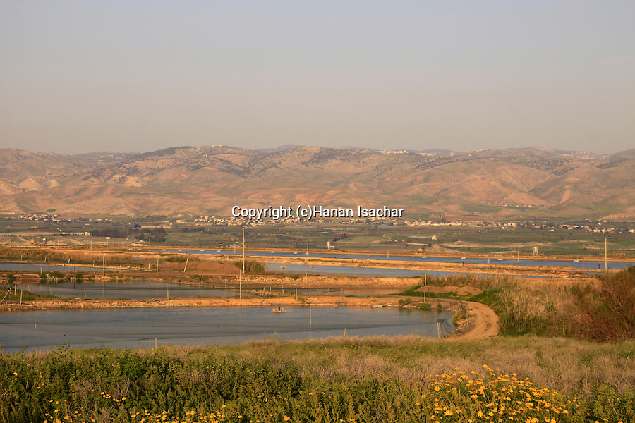 Israel, Beth Shean Valley, a view from Tel Shalem in Kibbutz Tirat Zvi