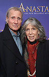 Jim Dale, Julia Schafler  attend Broadway Opening Night performance of 'Anastasia' at the Broadhurst Theatre on April 24, 2017 in New York City.