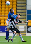 St Johnstone v Dunfermline... 13.08.11   SPL Week 4.Joe Cardle and Dave Mackay.Picture by Graeme Hart..Copyright Perthshire Picture Agency.Tel: 01738 623350  Mobile: 07990 594431