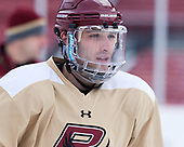 Austin Cangelosi (BC - 9) - The Boston College Eagles practiced on the rink at Fenway Park on Friday, January 6, 2017.