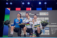Elena Pirrone (ITA) is the 2017 Junior Women's iTT World Champion with Alessia Vigilia (ITA) 2nd &amp; Madeleine Fasnacht (AUS) 3rd<br /> <br /> Women Junior Individual Time Trial<br /> <br /> UCI 2017 Road World Championships - Bergen/Norway