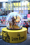 """Times Square Alliance unveiled its first season of Broadway """"Show Globes"""", """"The Lion King"""" in Times Square on November 04, 2019 in New York City."""