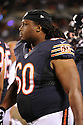 LANCE LOUIS (60), of the Chicago Bears, in action during the Bears preseason game against the Denver Broncos on August 9, 2012 at Soldier Field in Chicago, IL. The Broncos beat the Bears 31-3.