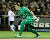 Valencia CF's Vicente Guaita during Champions League 2012/2013 match.February 12,2013. (ALTERPHOTOS/Acero) /NortePhoto