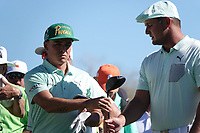 Bryson DeChambeau (USA)and Rickie Fowler (USA) In action during the third round of the Waste Management Phoenix Open, TPC Scottsdale, Phoenix, USA. 31/01/2020<br /> Picture: Golffile | Phil INGLIS<br /> <br /> <br /> All photo usage must carry mandatory copyright credit (© Golffile | Phil Inglis)