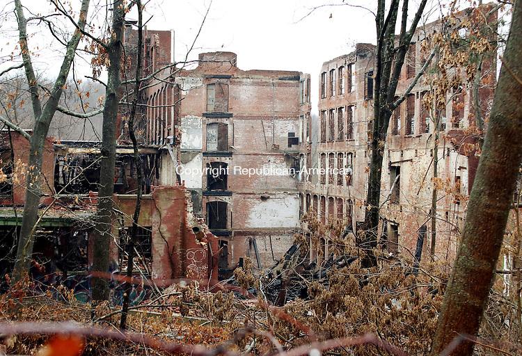 WATERBURY CT. 16 January 2015-011616SV09-Bristol Babcock factory, long abandoned and scene of August fire, on Bristol Street in Waterbury Saturday.<br /> Steven Valenti Republican-American