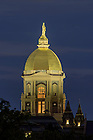 Sept. 27, 2015; Dome at dusk (Photo by Matt Cashore/University of Notre Dame)