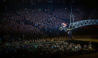 multiple trial world champion Kenny Belaey (BEL) gave a spectacular demonstration of his skills<br /> <br /> 'Merci Sven' (twice!) sold out arena event: <br /> tribute-show celebrating Sven Nys' career/retirement together with 18.000 people in the Sportpaleis Arena