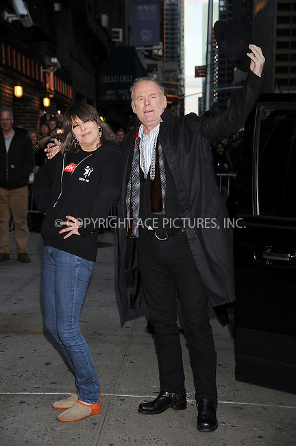 WWW.ACEPIXS.COM . . . . .  ....October 6 2008, New York City....Musicians Chrissie Hynde and Martin Chambers of 'The Pretenders' made an appearance at the 'Late Show with David Letterman' on October 6 2008 in New York City.....Please byline: KRISTIN CALLAHAN - ACEPIXS.COM.... *** ***..Ace Pictures, Inc:  ..te: (646) 769 0430..e-mail: info@acepixs.com..web: http://www.acepixs.com