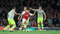 Alexis Sanchez of Arsenal in action during the UEFA Europa League match between Arsenal and FC Koln at the Emirates Stadium, London, England on 14 September 2017. Photo by Andrew Aleks.