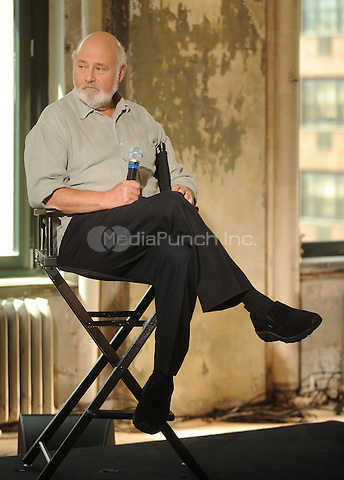 "New York,NY- July 9: Rob Reiner speaks at AOL's NYC headquarters about his iconic career and new movie ""And So It Goes."" He was interviewed by Eugene Hernandez in New York City on July 9,2014. Credit: John Palmer/MediaPunch"