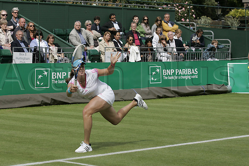 18.06.2011 The BNP Paribas Tennis Classic from the Hurlingham Club in London. Russian Anastasia Pavlyuchenkova playing Sorana Cirstea