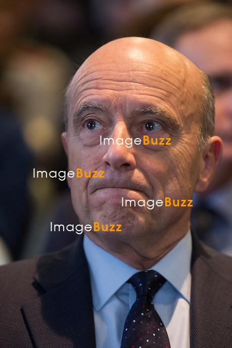 Semi - exclusif - Alain Jupp&eacute; &agrave; Bruxelles lors d'une conf&eacute;rence sur l&rsquo;esprit et le projet europ&eacute;en.<br /> Belgique, Brussels, 24 f&eacute;vrier 2016