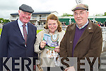 Bernard Wheelan, Josephine Wheelan and Tony Maher pictured at Listowel races on Sunday.
