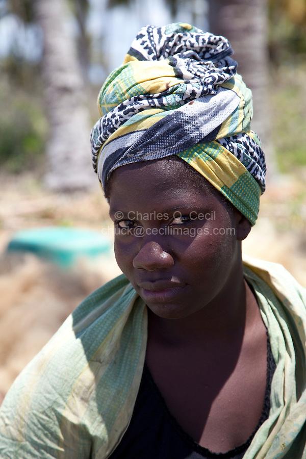 Kizimkazi, Zanzibar, Tanzania.  African Muslim woman.