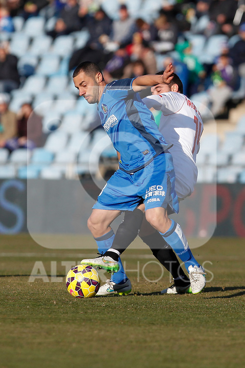 Getafe´s Lacen during 2014-15 La Liga match at Alfonso Perez Coliseum stadium in Getafe, Spain. February 08, 2015. (ALTERPHOTOS/Victor Blanco)