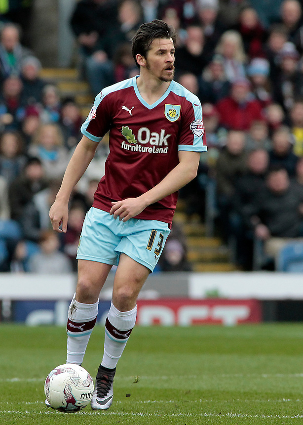 Burnley's Joey Barton in action during todays match  <br /> <br /> Photographer David Shipman/CameraSport<br /> <br /> Football - The Football League Sky Bet Championship - Burnley v Wolverhampton Wanderers - Saturday 19th March 2016 - Turf Moor - Burnley<br /> <br /> &copy; CameraSport - 43 Linden Ave. Countesthorpe. Leicester. England. LE8 5PG - Tel: +44 (0) 116 277 4147 - admin@camerasport.com - www.camerasport.com