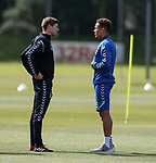 10.08.18 Rangers training: Steven Gerrard with James Tavernier