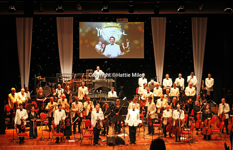BNPS.co.uk (01202 558833)<br /> Pic: HattieMiles/BNPS<br /> <br /> Strictly Mantovani concert at Pavilion Bournemouth, with Paul Barrett on percussion.<br /> <br /> A retired businessman has spent £26,000 laying on his very own a show in tribute to his hero - the musical maestro Annunzio Paolo Mantovani.<br /> <br /> Paul Barrett, 72, will perform in a 48-piece orchestra he has hired for the performance that he is prepared to make a loss of thousands of pounds on.<br /> <br /> Mr Barrett said he plans to do 'everything bar conducting' in the musical extravaganza being hosted at the Bournemouth Pavilion Theatre in Dorset.