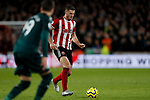 Jack O'Connell of Sheffield United passes the ball during the Premier League match at Bramall Lane, Sheffield. Picture date: 5th December 2019. Picture credit should read: James Wilson/Sportimage