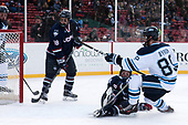 Max Kalter (UConn - 18), Johnny Austin (UConn - 6), Blaine Byron (Maine - 89) - The University of Maine Black Bears defeated the University of Connecticut Huskies 4-0 at Fenway Park on Saturday, January 14, 2017, in Boston, Massachusetts.