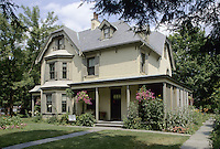 Hartford, Connecticut.The Harriet Beecher Stowe House on Farmington Avenue.
