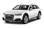 2017 Audi A4-Allroad Design-Luxe 5 Door wagon Angular Front stock photos of front three quarter view